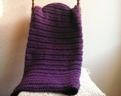 Chunky Crochet Blanket / Purple Throw Blanket / Chunky Throw / Purple Blanket / Crochet Blanket