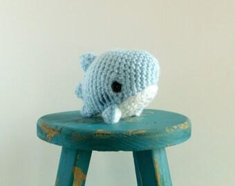 Blueberry the Baby Crochet Shark