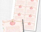 PINK LITTLE PUMPKIN rustic book request insert card library card fall baby shower instant digital download diy printable file