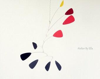 Hanging mobile, Calder inspired, Nursery mobile