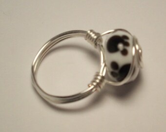 Dog Paw wire wrap ring