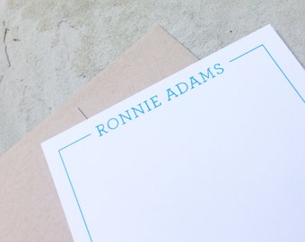 Personalized Stationery - Classic Custom Flat Notecard Set - Personalized Stationary