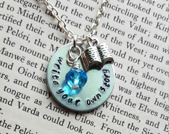 Write Your Own Story Author Necklace