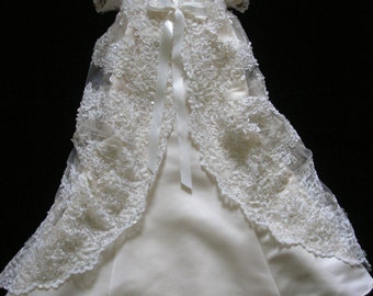 Bridget's Custom Christening or Baptism Gown made to order from your Wedding Dress