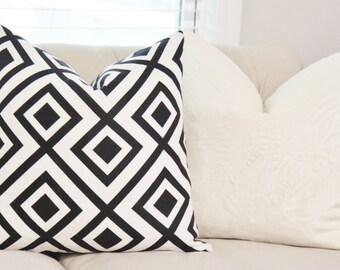 David Hicks La Fiorentina Groundworks Domino - Zig Zag Geometric Pillow - Zig Zag Pillow Cover - Black & White Pillow - Throw Pillow
