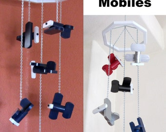 Little Planes 'Air Show' Scrap Wood Airplane Mobile - Available in Navy Blue Angels or Variety of Talent