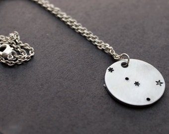 Cancer Necklace, Zodiac Jewelry, Cancer the Crab Constellation Necklace, Zodiac Necklace, Astrology, Personalized Star Necklace, Planets