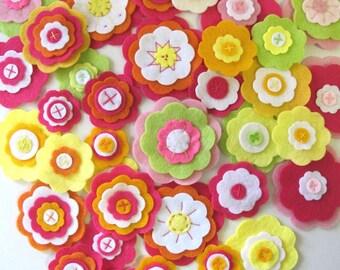 Bulk Felt Flowers, Handmade Flowers, Fabric Flower, Scrapbooking Flower, Flowers for Decoration
