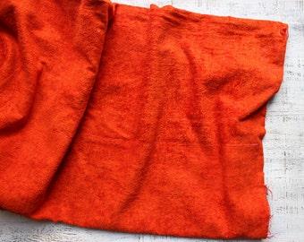 Vintage viscose vintage plush for making teddy bear scarlet scarlett red 17x25'' distressed