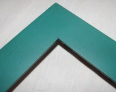 One 11x14 Made to Order Picture Frame ~ 1 1/2 Flat Profile ~ Choice of 36 Colors ~ Hand painted ~ Empress Teal