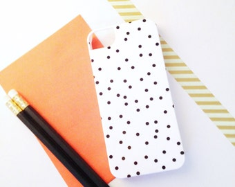SALE Black & White Polka Dot / Confetti iPhone 5 Case - In Stock / Ready to Ship - Modern, Bold, Graphic Gift for Her, Gadget Accessory