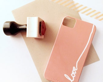 "SALE -  ""Love"" iPhone 4 / 4S 4Case in Rose Pink (In Stock & Ready to Ship) - Gift for Her, Phone / Device Accessory"