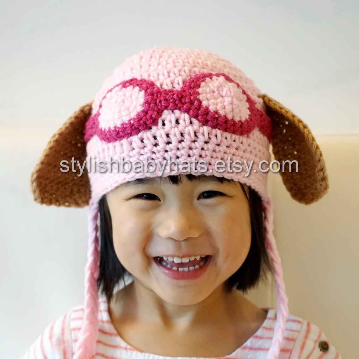 Crochet Hat Pattern Paw Patrol : Skye Hat PAW Patrol Hat Crochet Baby Hat Cockapoo Dog Hat