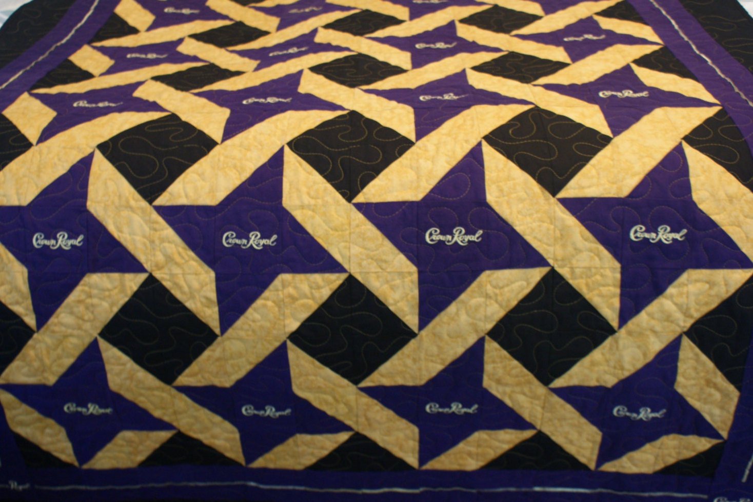 Crown Royal Quilt, Made to Order Quilt, Customizable, Man Cave ... : crown royal bag quilt - Adamdwight.com