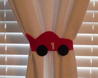 Race Car Curtain Tie-backs (set of 2)
