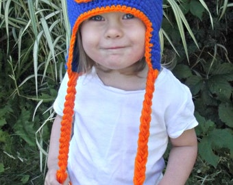 Bronco Hat (WITH earflaps and braids)