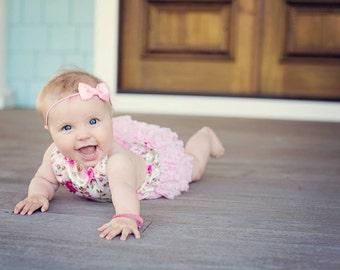 Pink Bow Headbands, Newborn Headband, Pink Newborn Headbands, Infant Headbands, Headbands for Babies, Headbands for Baby, Babies Headbands