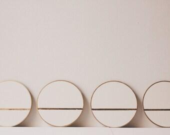 Linea Coasters | Wood White Gold