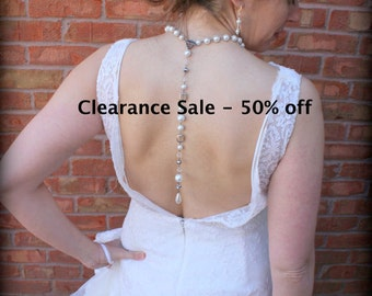 Backdrop Necklace-Pearl Necklace-Back Jewelry-Back Drop Bridal Necklace-Pearl Back Drop Necklace-Wedding Necklace-Dream Day Designs