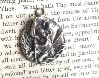 "St. Christopher MEDAL - 1"" - Bronze or Sterling Silver - Sterling Silver Medal - Vintage Medal Replica - Made in the USA (SM41-425)"