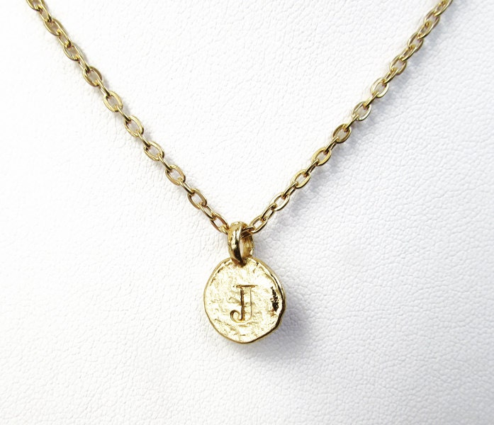 j initial necklace j letter necklaces gold by
