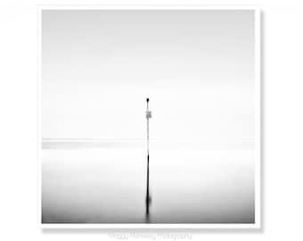 Beach Photography, Minimalist Beach Art, Beach House Decor, Black and White Photography, Minimalist Decor, Square Print