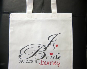 Personalized Jr. Bride gift bag wedding married bride