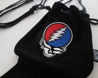 LoopyQ Black Licorice Grateful Dead Steal Your Face Stealie Pouch