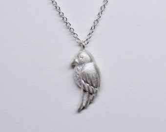 A little bird Necklaces in Sterling Silver, Handmade jewelry, Made in New York, Gift for her