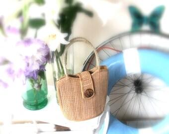 small palm leaf bag