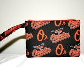 Baltimore Orioles MLB Wristlet Pouch or Cross Body Bag, Smart Phone Bag, Digital Camera Bag, iPod Bag, Padded Bag, Small Tech Bag