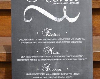 Chalkboard Menu sign
