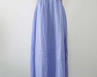 Embroidered Mexican Maxi Dress In Blue Long Dress