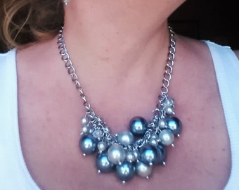 Pearl Cluster Necklace #1347