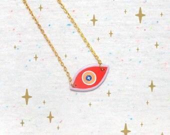 SALE Watchful Eye Talisman in Red