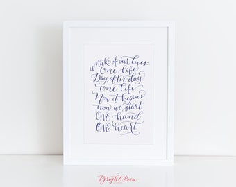 West Side Story | Calligraphy Quote Print