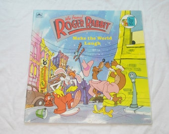 """Vintage Kids Paperback, """"Who Framed Roger Rabbit: Make the World Laugh"""" Adapted From the Film by Justine Korman, 1988."""