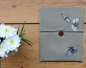 Sale 50% off, Case for Ipad 2 Ipad 3, Padded Ipad case , water resistant Butterflies Ipad Case, Back to School