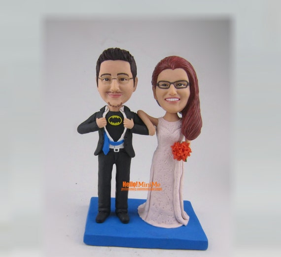 bobblehead wedding cake toppers personalized cake topper wedding cake topper bobblehead custom by 12068