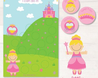 Princess chore/reward chart pack AUTOMATIC DOWNLOAD