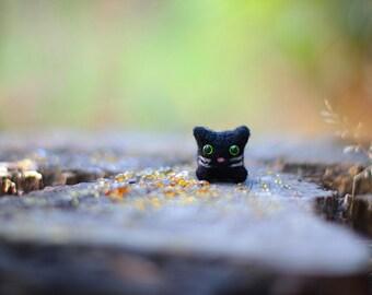 Needle Felted Cat, Cat Plush, Wool Felt Animals, Needle Felted Animal, Cat Sculpture, Cat Miniature, Soft Sculpture Animal, Cat Lover Gift