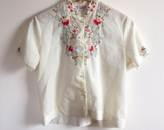 Floral Hand Embroidered Blouse