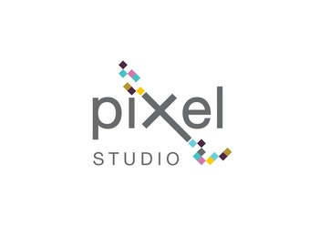 Premade Photography Logo and Watermark Design - One of a Kind - Pixel Logo - Business Branding
