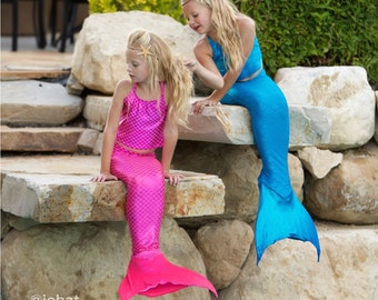 Swimmable Mermaid Tail & Tankini Top (without a mono fin)