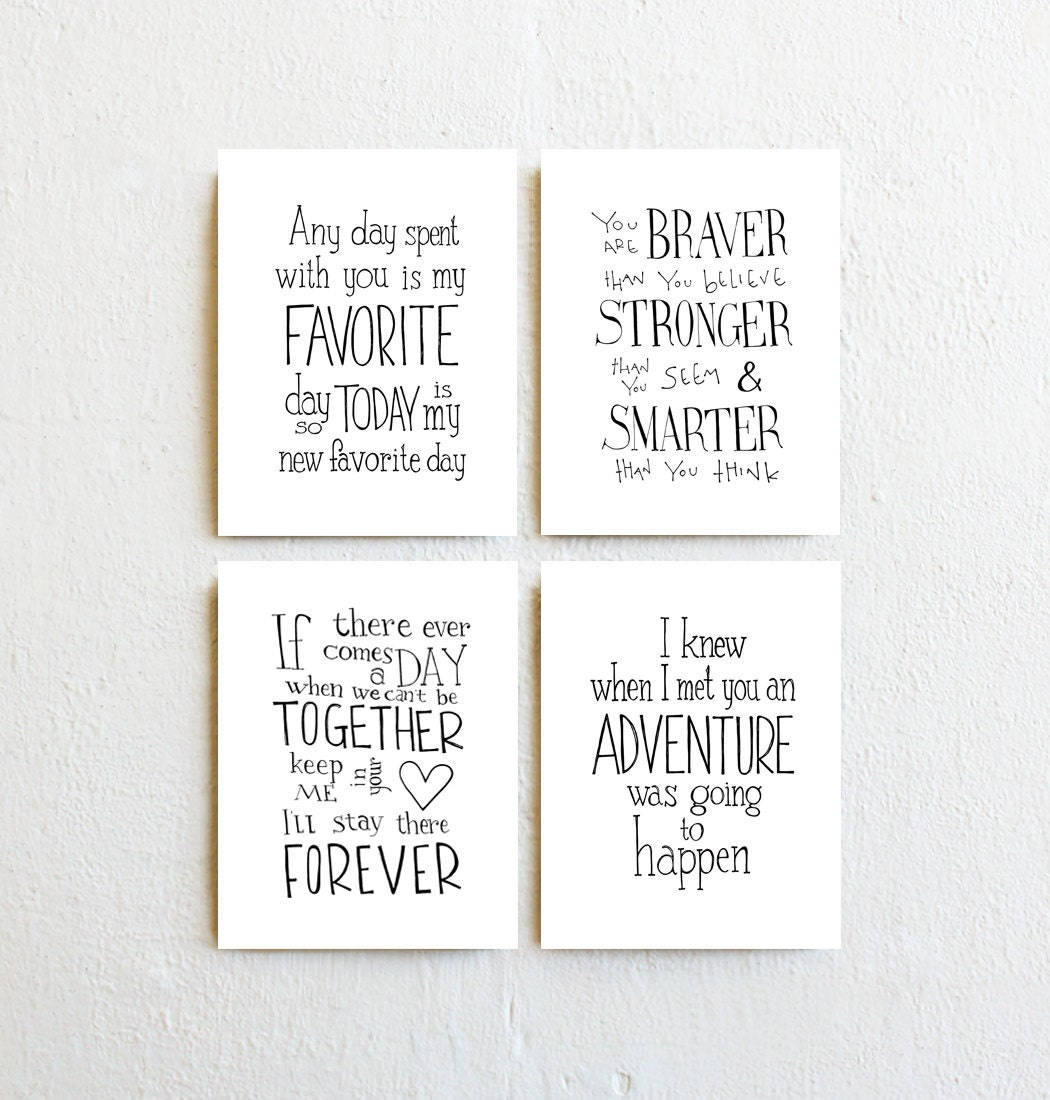 Winnie the pooh quote prints set of 4 inspirational zoom amipublicfo Images