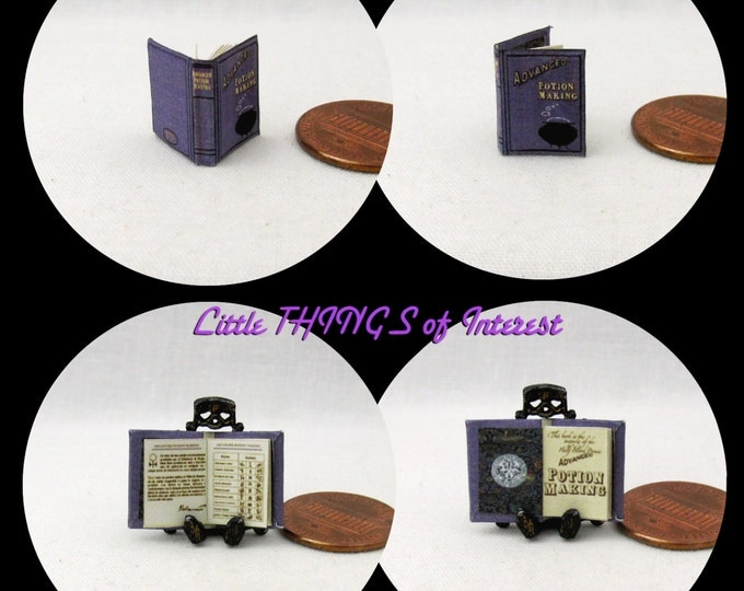 1:24 Scale Book ADVANCED POTION MAKING Dollhouse Miniature Book Illustrated Book Spell Book Harry Potter Flourish and Blotts