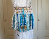 Boho Chic Gypsy Fringe SMALL Hand Bag with Rear Flap Closure! - Small Cell Phone Purse - Hippie Fringe Boho Bag - YOU PICK strap length