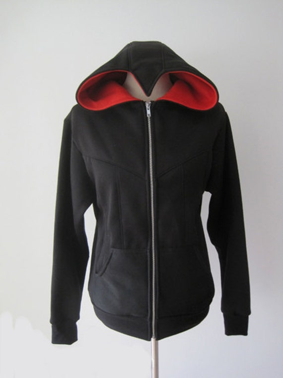 Assassin's Beaked Hoodie Jacket (Black Version)
