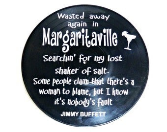 Margaritaville by Jimmy Buffett song lyrics vinyl on vinyl record music lyric art song lyric art vinyl record music lover gift