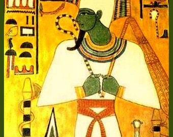 Osiris Egypt Lord of Love 2500 BC  - Print